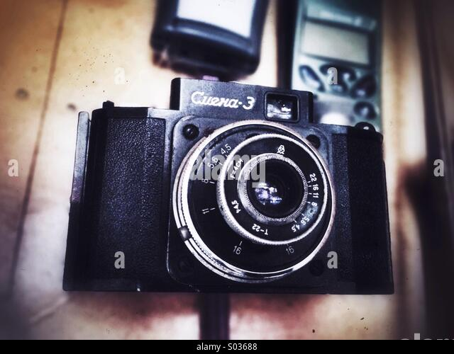 Camera of my dad, one of the oldest he has. - Stock-Bilder
