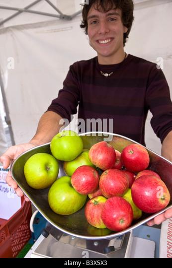Farmers Market Acton Market Acton W3 London United Kingdom - Stock Image