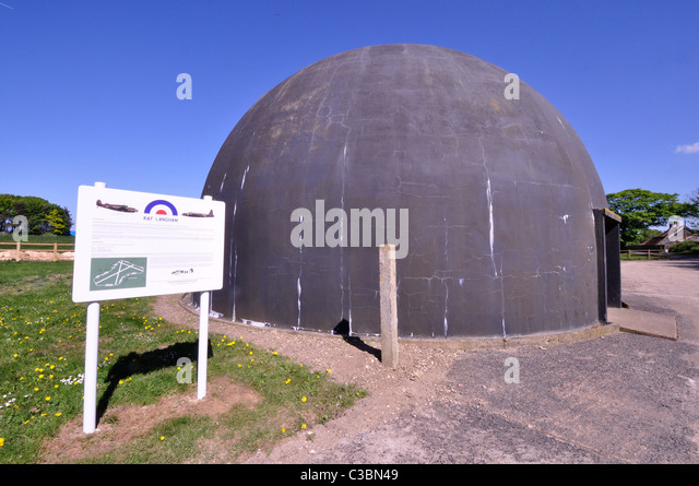 Langham gunner training dome, Langham, Norfolk - Stock Image