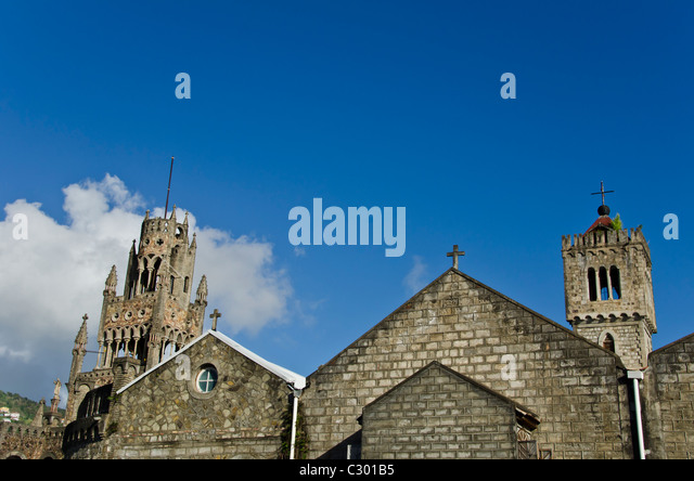St Vincent Kingstown Cathedral of Assumption Church landmark attraction - Stock Image