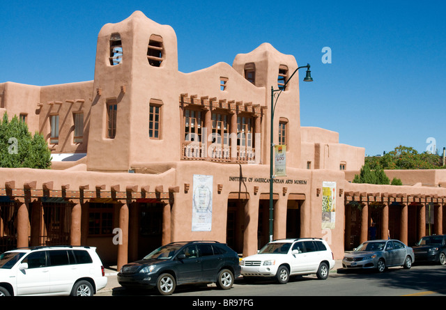American Indian Museum Of Art Santa Fe New Mexico - Stock Image