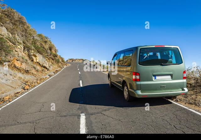 Way to observatory on La Palma island - Stock Image