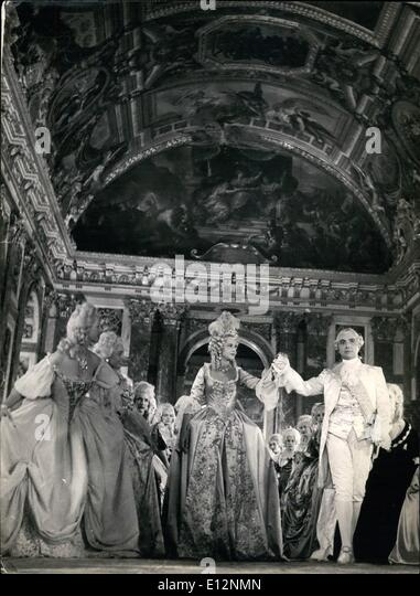 Feb. 24, 2012 - Sacha Guitry revives Versailles history. A scene of the new film produced by Sacha Guitry evoking - Stock Image