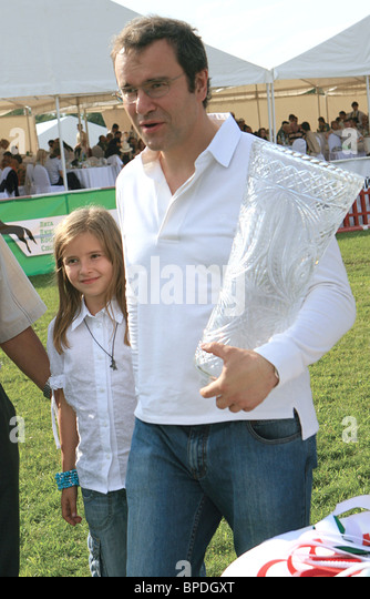 Show jumping competition, Zavidovo Cup, took place at Alfares riding club - Stock Image