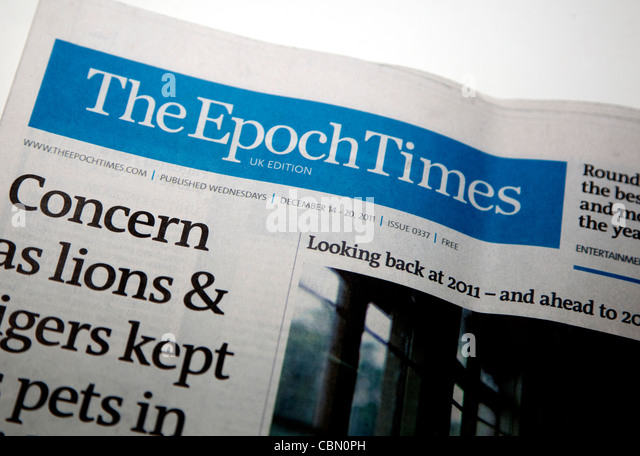 The Epoch Times free weekly international newspaper, UK edition London - Stock-Bilder