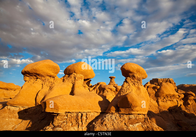 USA, Utah, Goblin Valley, San Rafael Swell, Rock formations - Stock Image
