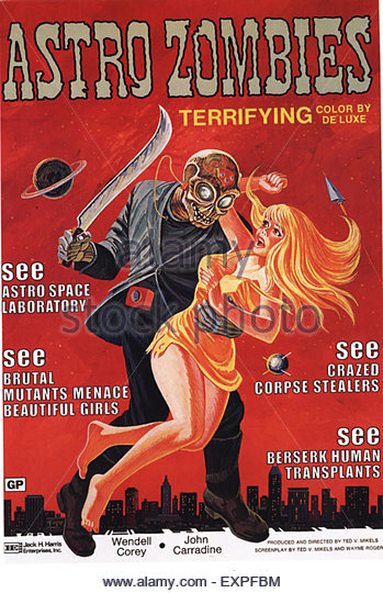 1960s USA Astro Zombies Film Poster - Stock Image