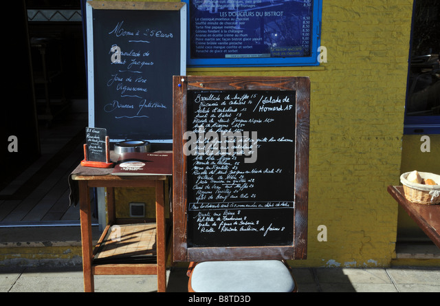 French restaurant menu board south stock photos french - Bistrot du port nice ...