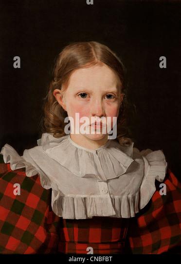 Portrait of Adolphine Købke Sister of the Artist Christen Købke1810?1848  Denmark Danish - Stock-Bilder
