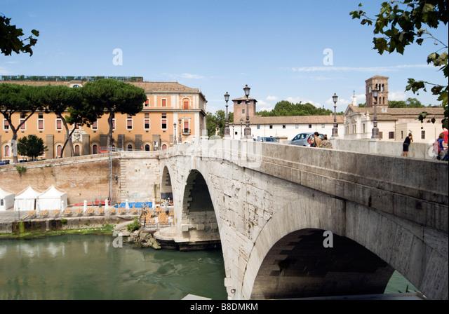 Ponte cestio rome - Stock Image