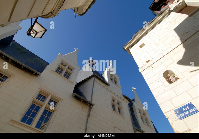 Back streets, Chatellerault, Vienne, France. - Stock Image