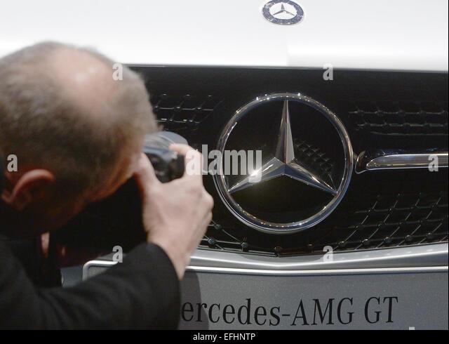 Germany stuttgart mercedes benz center stock photos for Mercedes benz financial statement