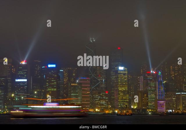 Symphony of Lights, Hong Kong, SAR of China - Stock Image