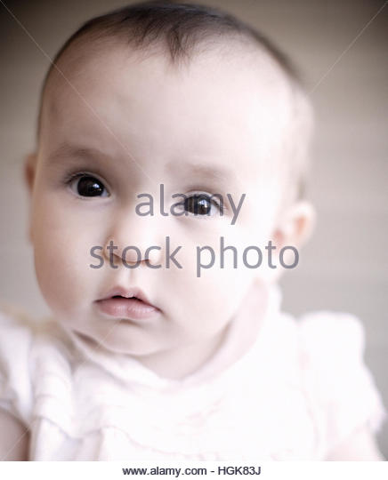 Photobooth and Baby - Stock Image