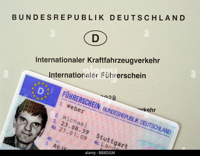 International and national driving license Federal Republic of Germany - Stock Image