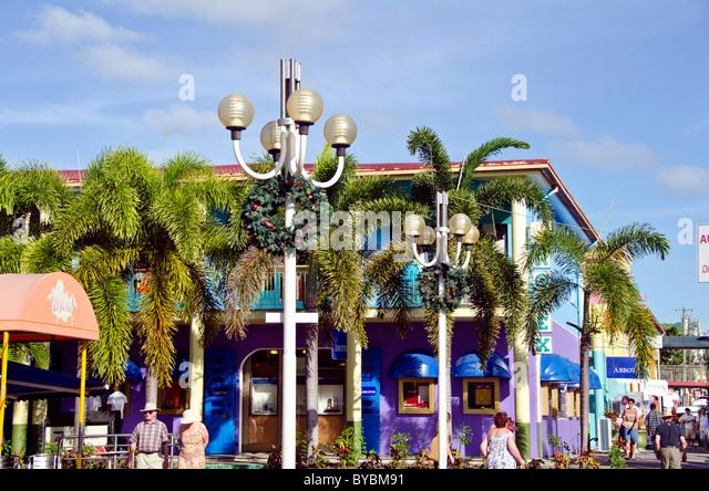 Antigua Heritage Quay shopping area at cruise dock - Stock Image