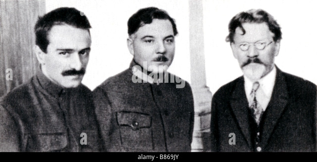Kalinin with Vorochilov and Mikoyan - Stock Image