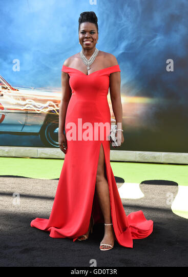 Hollywood, California, USA. 9th July, 2016. Leslie Jones arrives for the premiere of the film 'Ghostbusters' - Stock Image
