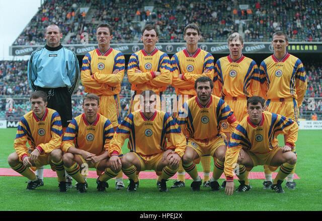 Romanian Soccer Team Romanian Team Stock Ph...