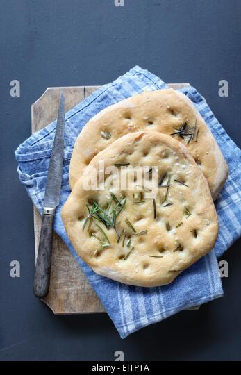 Focaccia bread - Stock Image