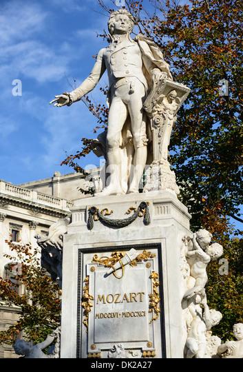 Mozart memorial, Burggarten, Vienna, Austria, Europe - Stock Image