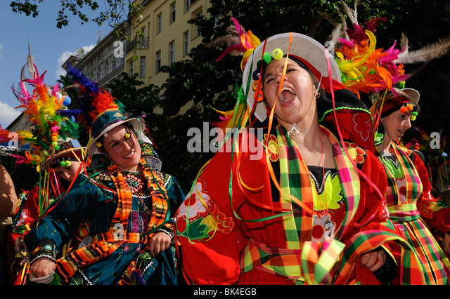 Karneval der Kulturen, Carnival of Cultures, annual famous street parade on Whitsun, Kreuzberg district, Berlin, - Stock-Bilder