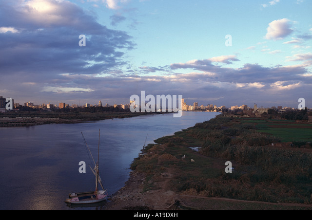 Nile River, south of Cairo, Egypt - Stock Image