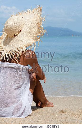 Woman beach holidays Lucenet Patrick Oredia - Stock Image
