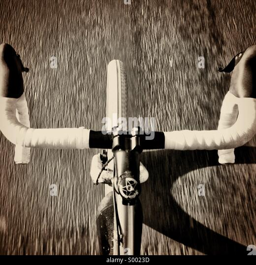 Riding your bike - Stock Image