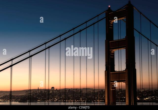 Usa, California, San Francisco, Golden Gate Bridge - Stock-Bilder