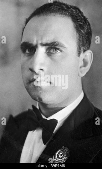 Honourable artist of Armenia singer Pavel Lisitsian - Stock Image