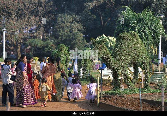 Park am Malabar Hill, Bombay, Indien - Stock-Bilder