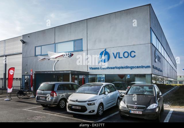 Vlaams Luchtvaartopleidingscentrum / VLOC / Flemish aviation training center in Ostend, Belgium - Stock Image
