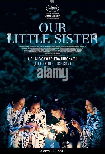 HARUKA AYASE MASAMI NAGASAWA SUZU HIROSE & KAHO POSTER OUR LITTLE SISTER; UMIMACHI DIARY (2015) - Stock Image
