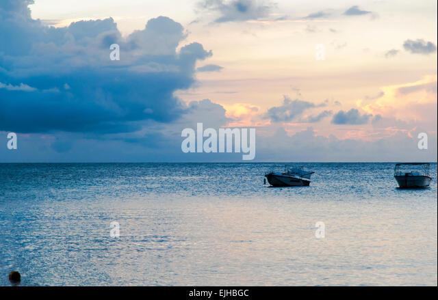 The beautiful sunset view of Mauritius - Stock Image