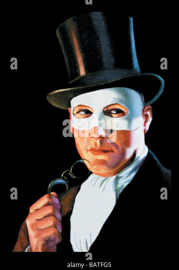 Man In The Masque - Stock Image