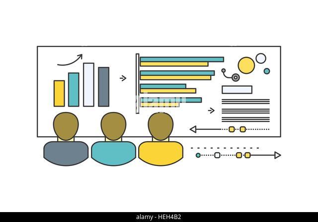 Forecast concept icon flat style. Business growth graph, finance market progress chart, financial investment, profit - Stock-Bilder