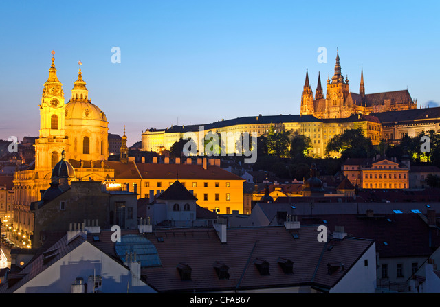 St. Vitus Cathedral, and the Castle District, Prague, Czech Republic - Stock-Bilder