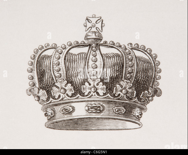 Crown of the Kingdom of Denmark. - Stock Image