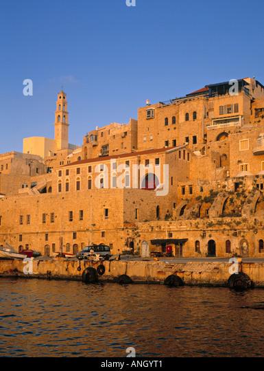 Jaffa Harbour, Tel Aviv, Israel - Stock Image