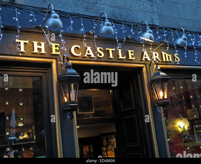 The Castle Arms Pub, Edinburgh, Scotland, UK - Stock Image