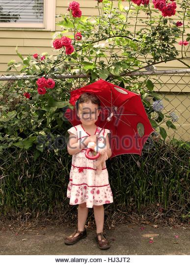 Julia Bunny and Garden - Stock-Bilder