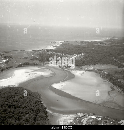 Narooma looking South East 14063000993 o - Stock Image