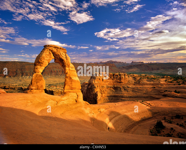 Delicate Arch, Arches National Park. Utah. - Stock Image