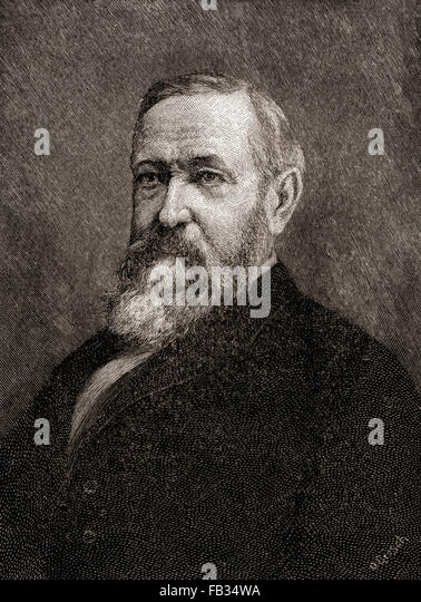 Benjamin Harrison, 1833 – 1901.  23rd President of the United States. - Stock Image
