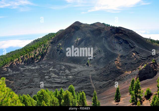 San Antonio volcano, Canary Islands, La Palma, Fuencaliente - Stock-Bilder