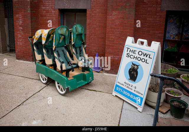 The Owl School, private preschool childcare - Washington, DC USA - Stock Image