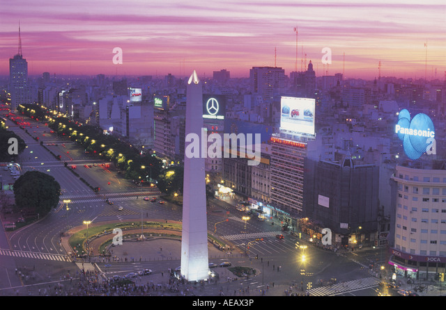 Buenos Aires at night Argentina - Stock Image