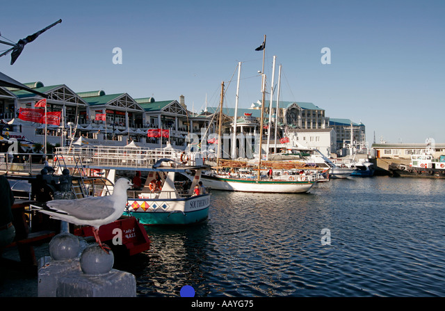 south africa cape town Victoria Albert waterfront pier - Stock Image