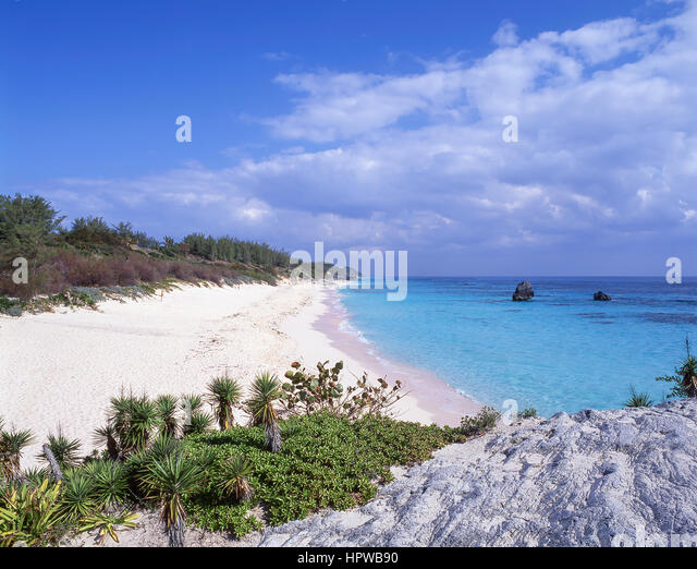 Warwick Long Bay, South Shore, Warwick Parish, Bermuda - Stock Image